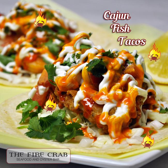 Cajun fish tacos the fire crab for Cajun fish tacos